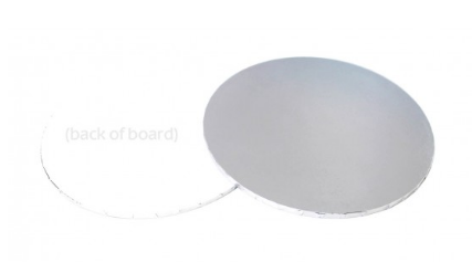 "12"" LOYAL Round SILVER Masonite Cake Board"