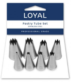 LOYAL STAR PASTRY TUBE S/S SET
