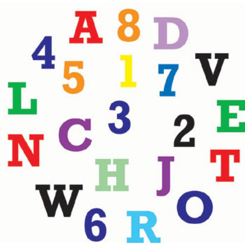 BLOCK UPPER CASE ALPHABET & NUMBERS SET - FMM