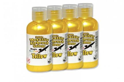 Yellow  MAGIC COLOURS METALLIC AIRBRUSH - Yellow - 1 x 55ml bottle