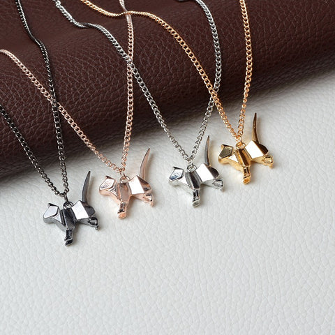 Origami Cat Pendant Necklace