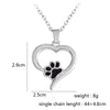 Paw Print Pendant Necklace