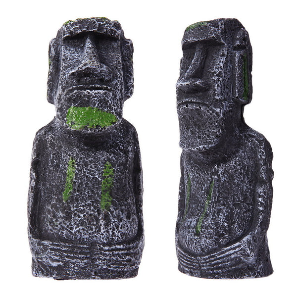 Easter Island Statue Aquarium Decoration