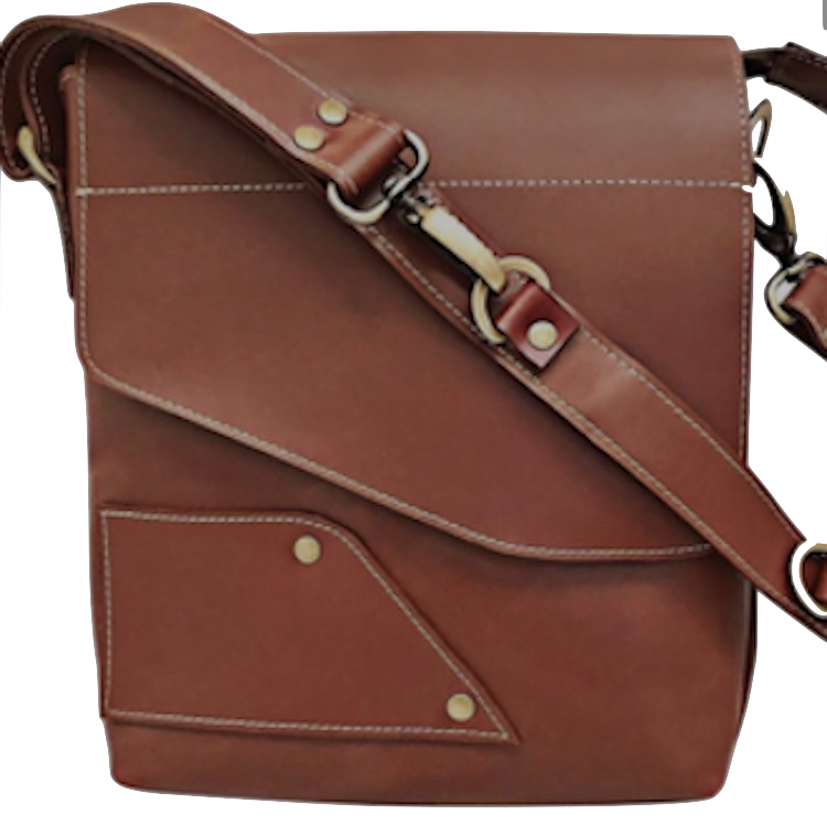 Men's  Leather Personal Size Carry All Bag