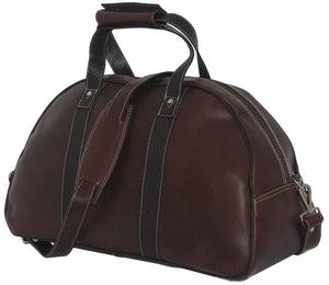 Genuine Leather Medium Cabin Bag--Perforated Cafe