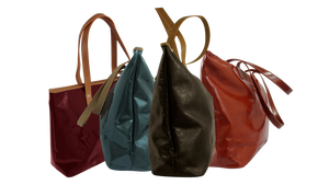 Deluxe 10 Pocket Organizer-Women's Genuine Leather Tote-- Hot Cherry--4 more colors to choose