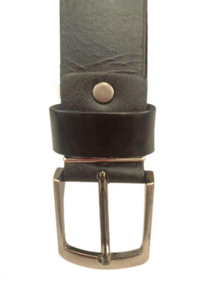 Men's Leather Belt --Classic Smooth Leather Black--80901--42 inches