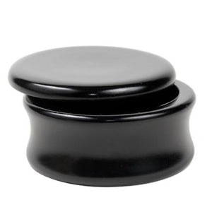 Mango Wood Shaving Bowl - Black by Parker