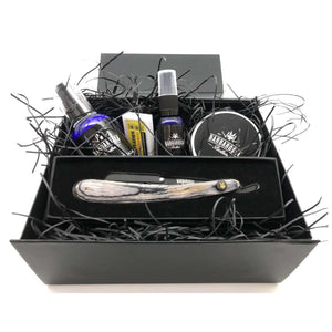 The Buccaneer Cut Throat Razor Razor Gift Set in Brown