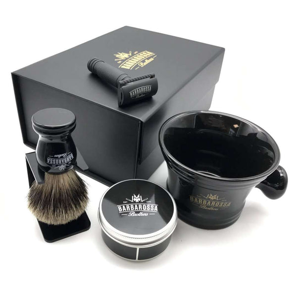 The Ottoman Double Edge Shaving Set in Matt Black