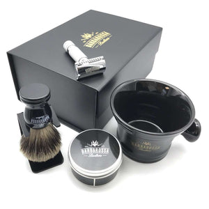 The Ottoman Double Edge Shaving Set in Chrome