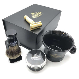 The Ottoman Double Edge Shaving Set in 24k Gold