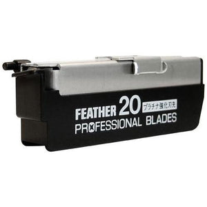 20 x Feather Professional Blades PB-20 (Suitable for Japanese Kamisori Cut Throat Razor Razors)