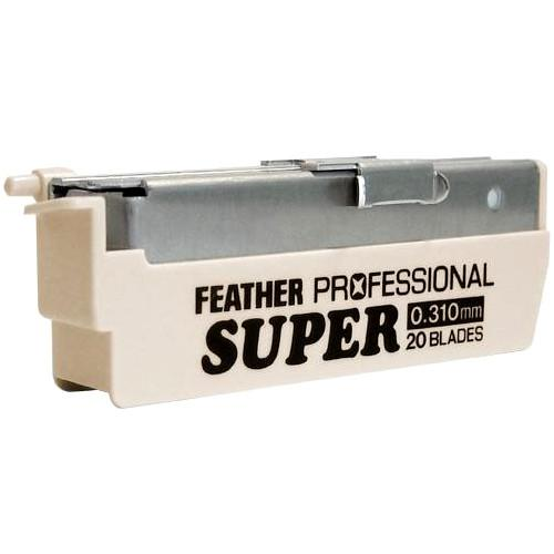 20 x Feather Pro Super Blades PS-20 (Suitable for Japanese Kamisori Cut Throat Razor Razors)