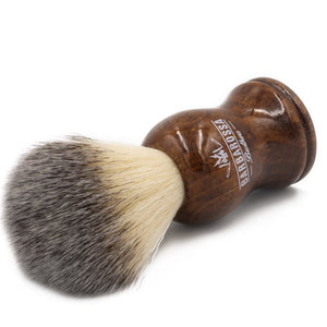 Wooden Synthetic Silvertip Shaving Brush in Brown