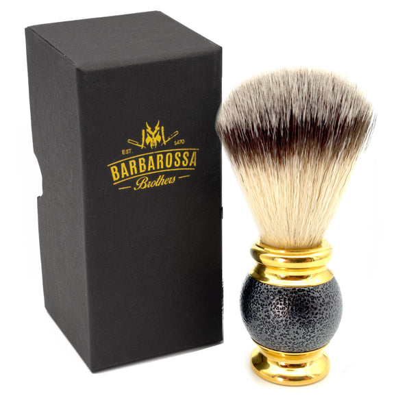 Black Magic Synthetic Silvertip Shaving Brush in Black & Gold