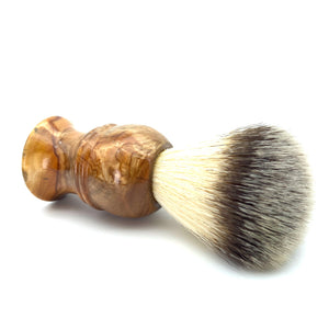 Olivewood Synthetic Silvertip Shaving Brush in Brown