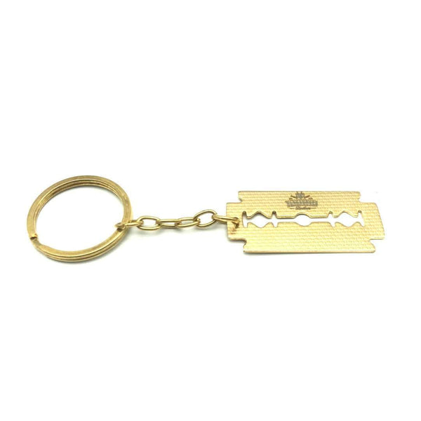 Accessories - Barbarossa Brothers Gold Plated Razor Blade Keyring