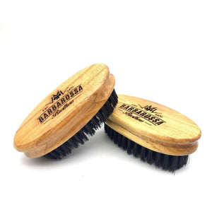 Comb - New - Engraved Bristle Beard Brush