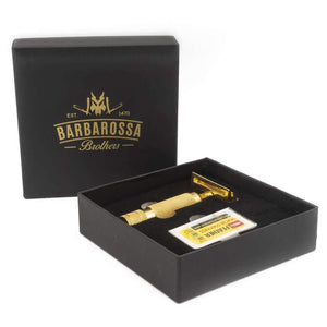 Double Edge Razor - The Ottoman Double Edge Safety Razor - 24k Gold Plated Stainless Steel - Single Blade Shaving Razor