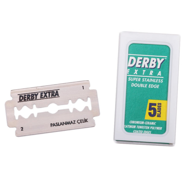 Derby Extra Swedish Steel Safety Razor Blades x 5