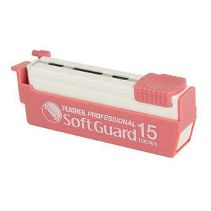 Razor Blades - 15 X Feather Professional Soft Guard Blades PSF-15 (Suitable For Japanese Kamisori Cut Throat Razors)