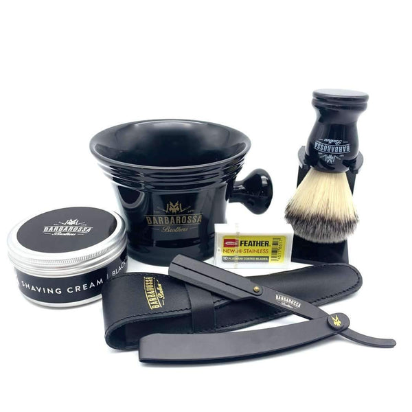 Shaving Set - Jolly Roger Cut Throat Barber Razor Starter Set