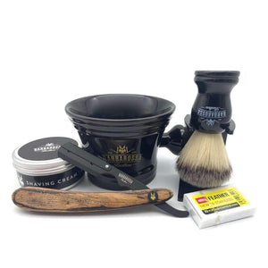 Shaving Set - The Buccaneer Cut Throat Barber Razor Starter Kit