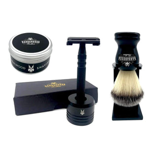 Shaving Set - The P1R8 Double Edge Safety Razor Set With Brush, Cream & Blades
