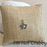 Charm Bangle Bracelet - Sterling Silver - Im Not Crabby! Bangle Bracelet - Pearl Jewelry
