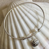 Charm Bangle Bracelet - Sterling Silver - Pearl Jewelry