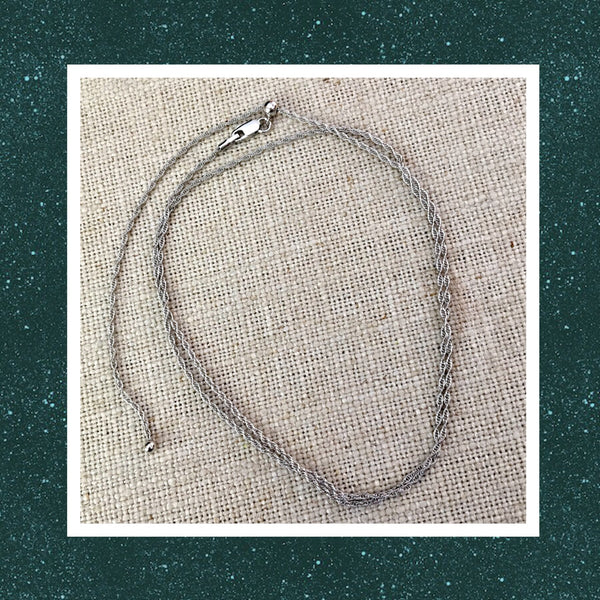 "15""- 24"" Adjustable Sterling Silver Rope Chain"