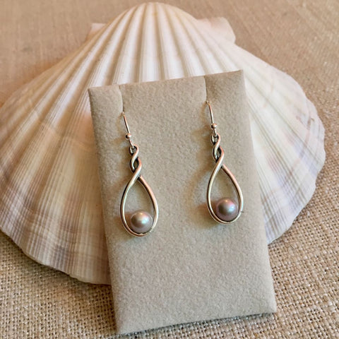 Twist And Shout Pearl Earrings - Sterling Silver - Pearl Jewelry