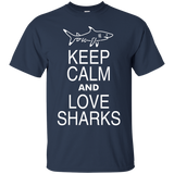 Keep Calm and Love Sharks T-Shirt - Tank