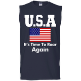 Usa It's Time To Roar Again Long - Short Sleeve, Sleeveless
