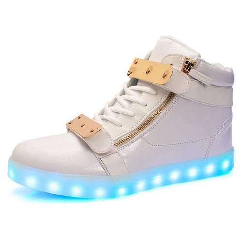 Glamour High Tops Adult Light Up Shoes