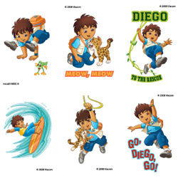 Go Diego Go from the Dora the Explorer Show Tattoos (6 Pack)