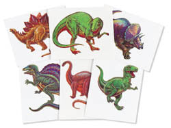Dinosaurs  Tattoos (Set of 6)