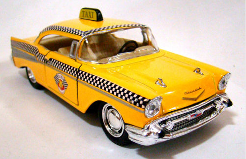 1957 Chevrolet Bel Air Die Cast Taxi Cab 1:40 SCALE