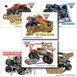 Monster Jam Monster Truck Tattoos (6 Pack)