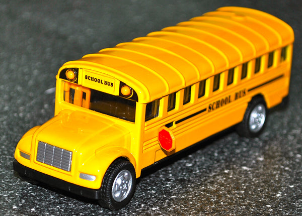 Pull Back School Bus Die Cast Collectible