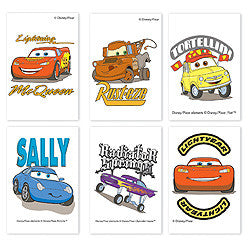 Disney Pixar Cars the Movie Tattoos (6 Pack)