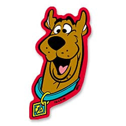 Scooby Doo Face Shaped Stickers (10 Pack)