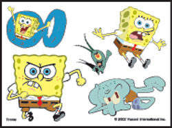 SpongeBob Squarepants Tattoos Sheet #2