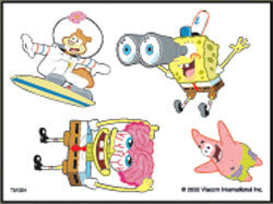 SpongeBob Squarepants  Tattoos Sheet #4 Sponge Bob
