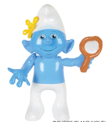 "Vanity Smurf Inflatable 24"" Tall"