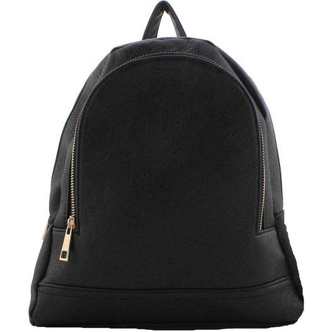 Black Casual Faux Leather Backpack | Dresslland