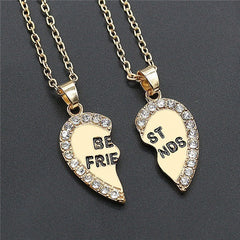 Bff necklace | 2 piece heart
