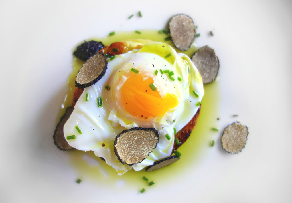 Poached eggs with Black Truffle Oil