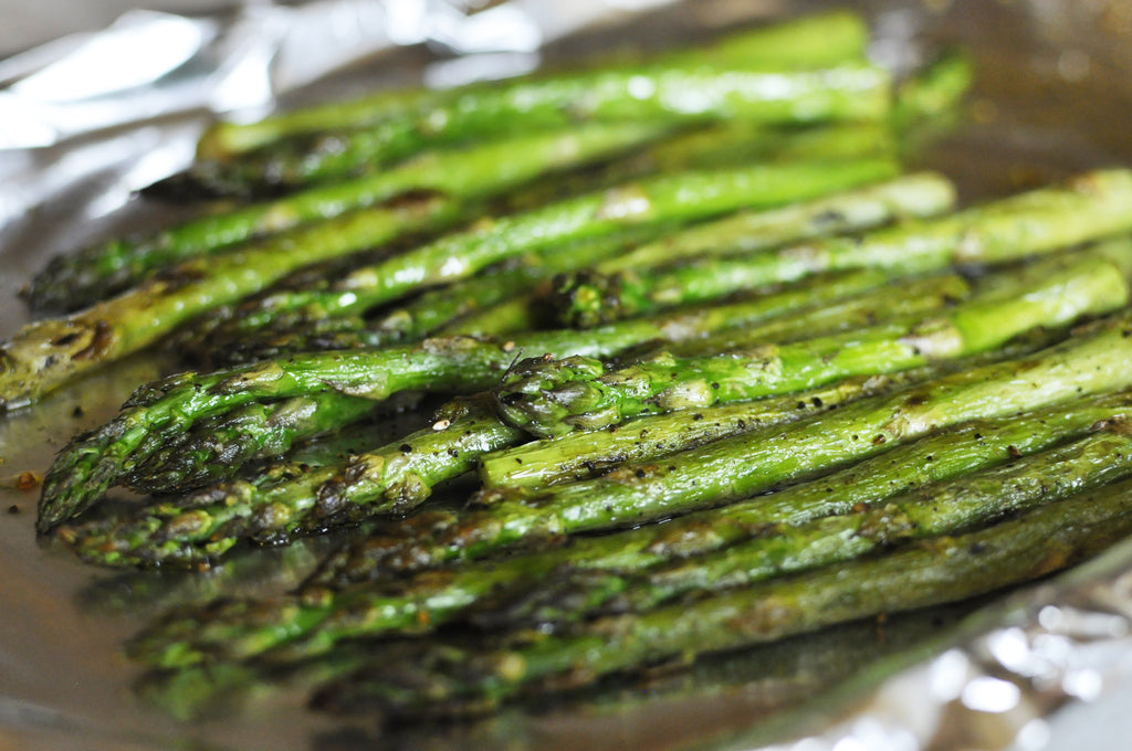 Asparagus drizzled with Black Truffle Oil